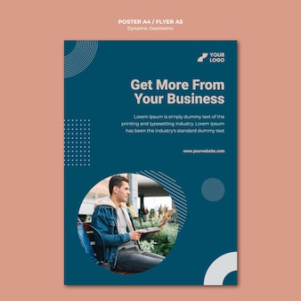 Business ad template poster