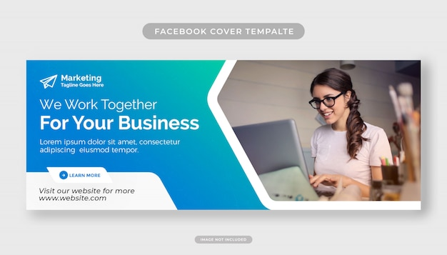 Business advertising for facebook cover design template