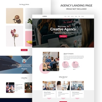 Business and agency email banner ui design