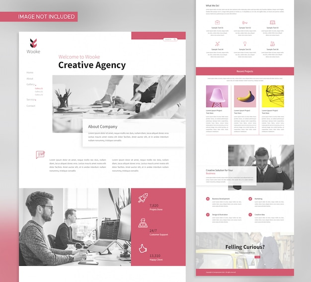 Business agency landing page template