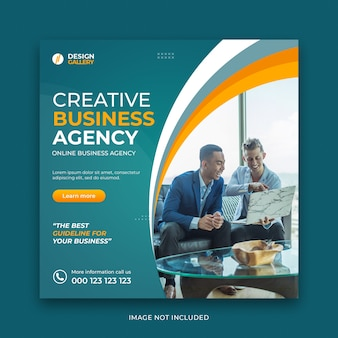 Business agency and modern creative web banner template Premium Psd