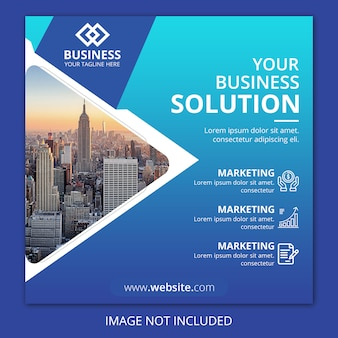 Business agency square flyer