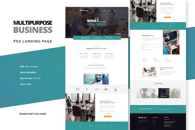 Business agency and startup company landing page