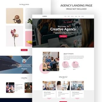 Бизнес и агентство по электронной почте баннер дизайн пользовательского интерфейса Premium Psd