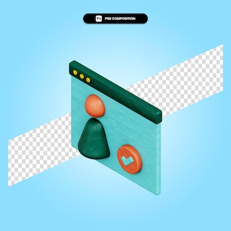 Business approved 3d render illustration isolated