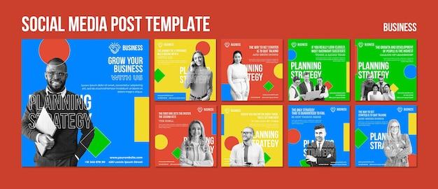 비즈니스 배너 템플릿 소셜 미디어 게시물