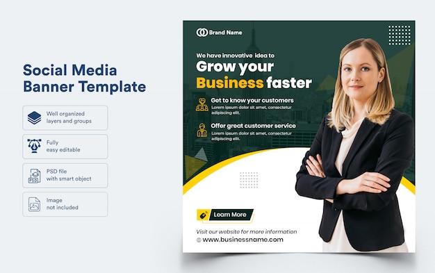 Business banner template for social media