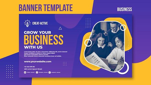 Шаблон бизнес-баннера с фото