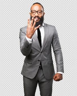 ビジネス黒人男性番号4記号