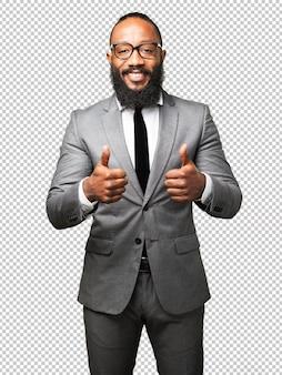 Business black man okay gesture