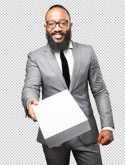 ボックスで保存ビジネス黒人男性