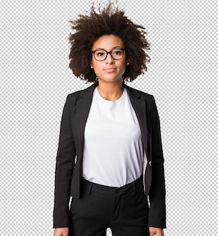 Business black woman standing