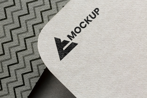 Business branding on card mock-up arrangement