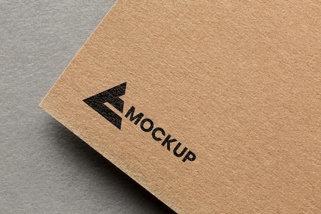 Business branding on card mock-up assortment