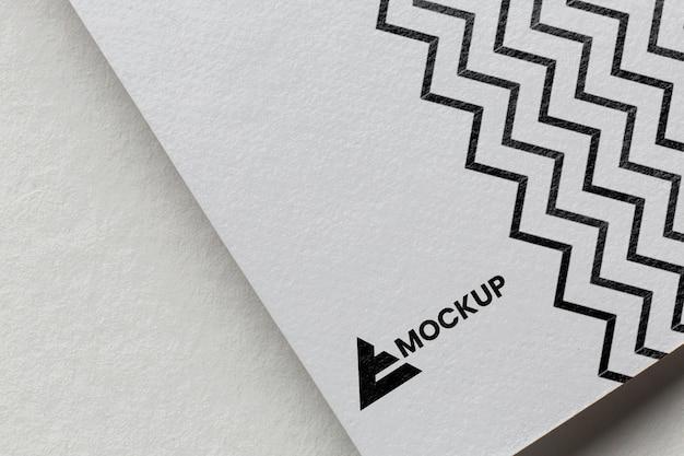 Business branding on card mock-up composition
