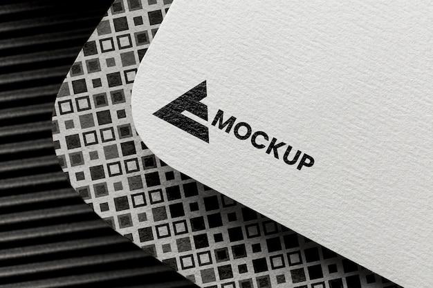 Business branding on card mock-up