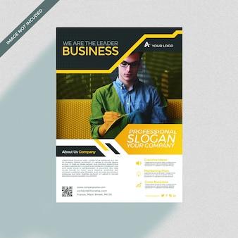 Business brochure cover mockup