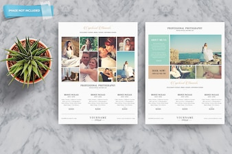 Business brochure mockup of two