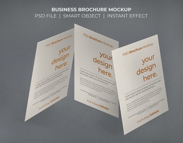 Business brochure mockup