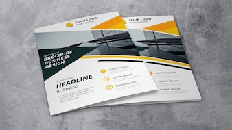 Business brochure mockup