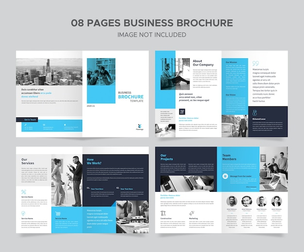 Дизайн шаблона бизнес-брошюры