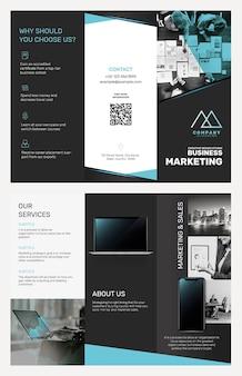 Шаблон бизнес-брошюры psd для маркетинговой компании