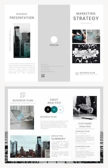 Business brochure template psd set