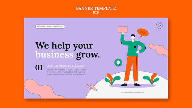 Business to business banner template