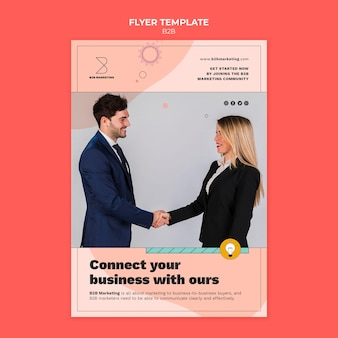 Business to business flyer template