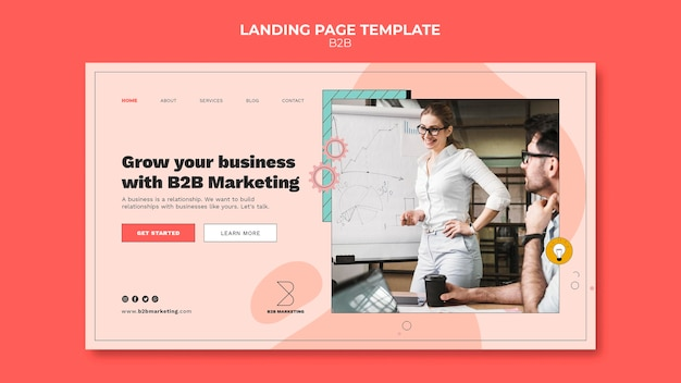 Business to business landing page template