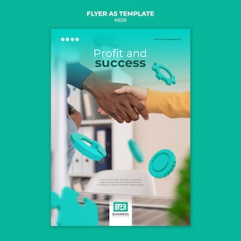 Business to business print template