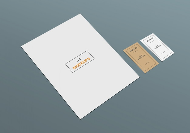 Business card and a4 page mock-up