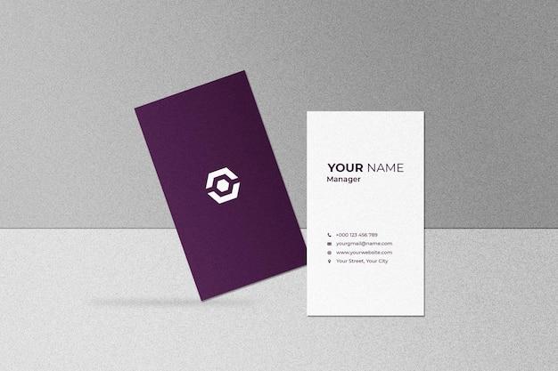 명함 및 이름 카드 모형
