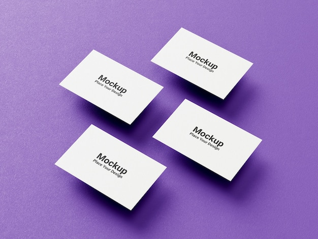 Business card collection mockup