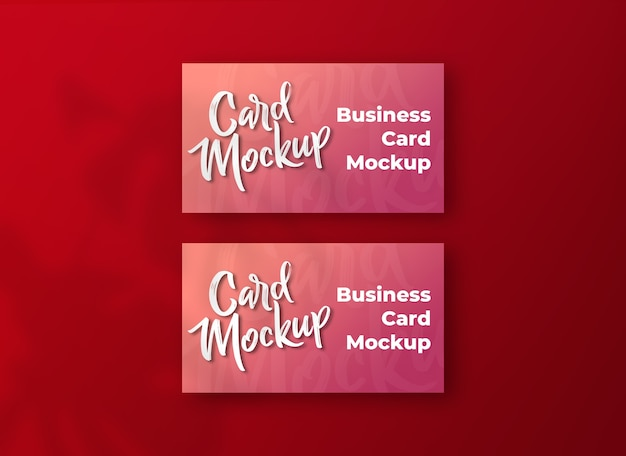 Business card concept mockup