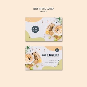 Business card design for delicious brunch