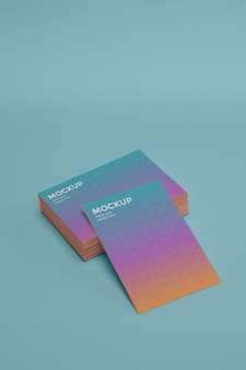 Макет дизайна визитной карточки