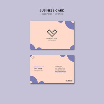 Business card design for template