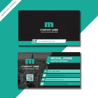 Business card design with image