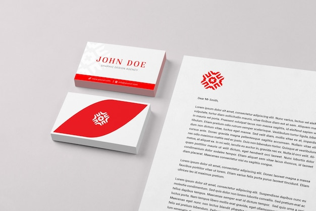Business card and document mock up