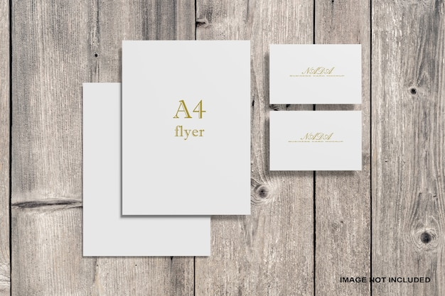 Business card and document mockup