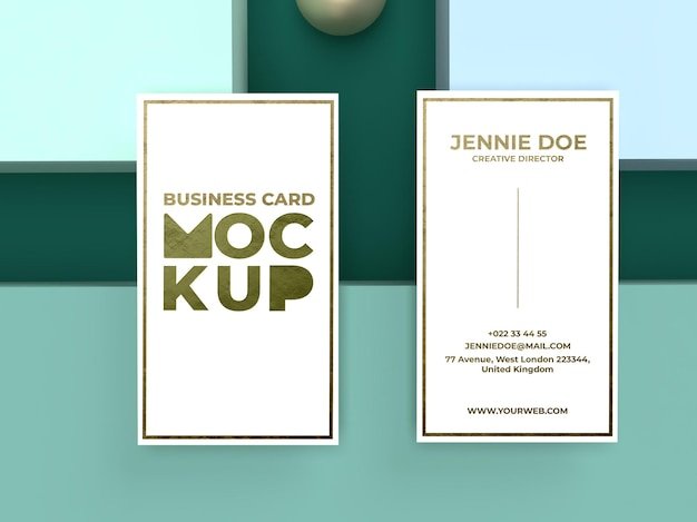 Business card embossed effect mockup