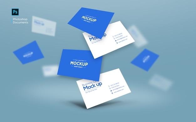 Шаблон дизайна визитной карточки падающий макет