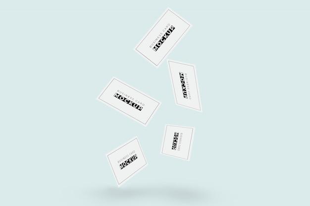 Визитная карточка летающий макет