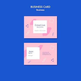 Визитная карточка в стиле мемфис