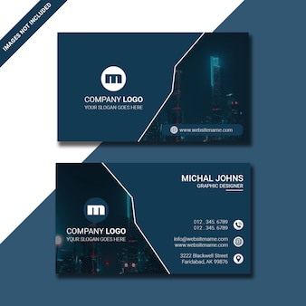 Business card light color