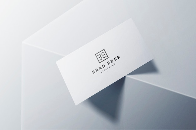 Business card logo mockup