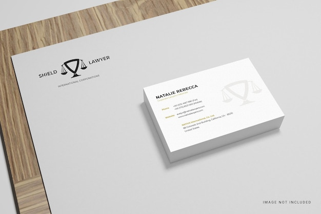 Business card and logo mockup