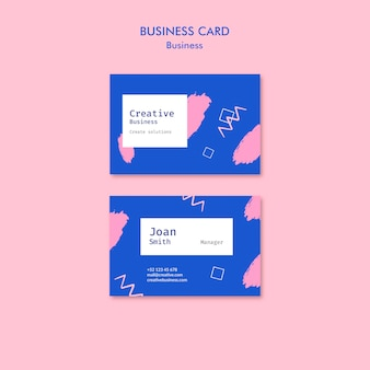 Business card in memphis style