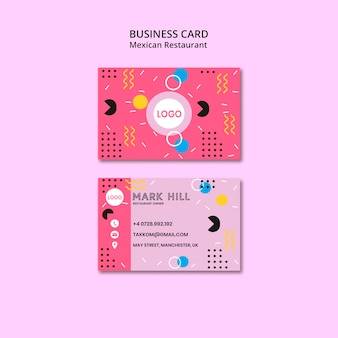 Business card mexican food